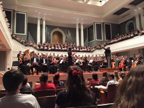 Performing with the Belmont University Orchestra and Chorus